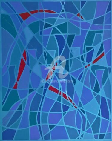 36.Les carafes bleues acrylique
